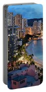 Honolulu Skyline Panorama Portable Battery Charger