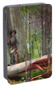 Hunter In The Adirondacks Portable Battery Charger
