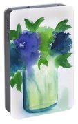 4 Hydrangeas Portable Battery Charger