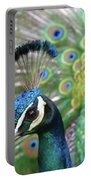 Indian Blue Peacock Portable Battery Charger