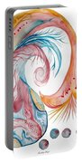 Koi Fish-watercolor Portable Battery Charger