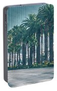 Las Vegas Nevada City Skyline And Vegas Strip At Night Portable Battery Charger