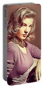 Lauren Bacall, Vintage Actress Portable Battery Charger