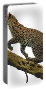 Leopard Panthera Pardus Climbing Portable Battery Charger