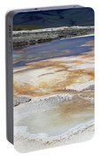 Mammoth Hot Springs Upper Terraces In Yellowstone National Park Portable Battery Charger