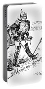 Monroe Doctrine Cartoon Portable Battery Charger
