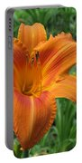 Daylily Orange Portable Battery Charger