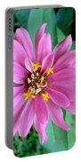Pink Zinnia Portable Battery Charger