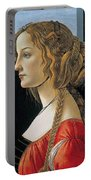 Portrait Of A Young Woman Portable Battery Charger