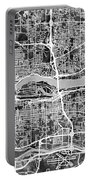 Quad Cities Street Map Portable Battery Charger