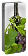 Red Wine Portable Battery Charger by Joana Kruse