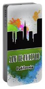 San Francisco Skyline Silhouette Portable Battery Charger
