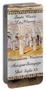 Santa Maria La Blanca Synagogue - Toledo Spain Portable Battery Charger