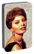 Sophia Loren, Vintage Movie Star Portable Battery Charger