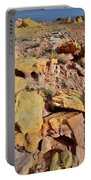 Splash Of Color In Valley Of Fire Portable Battery Charger