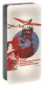 Stalin Soviet Propaganda Poster Portable Battery Charger