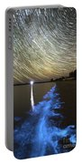 Star Trails And Bioluminescence Portable Battery Charger by Philip Hart