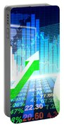 Stock Market Concept Portable Battery Charger