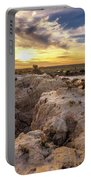 Sunset Over Walls Of China In Mungo National Park, Australia Portable Battery Charger