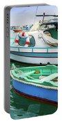 Traditional Boats At Marsaxlokk Harbor In Malta Portable Battery Charger