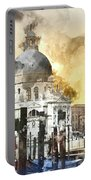 Venice Italy Digital Watercolor On Photograph Portable Battery Charger