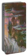 Water Lilies, Setting Sun Portable Battery Charger
