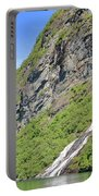 Waterfall In Geiranger Norway Portable Battery Charger