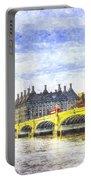 Westminster Bridge And Big Ben Art Portable Battery Charger