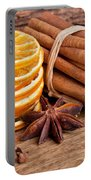 Winter Spices Portable Battery Charger by Nailia Schwarz