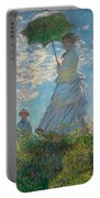 Woman With A Parasol - Madame Monet And Her Son Portable Battery Charger