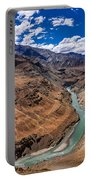 Zanskar River Ladakh Jammu And Kashmir India Portable Battery Charger