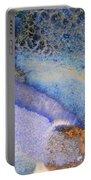 42. Blue Purple Black Glaze Painting Portable Battery Charger