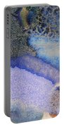 42. V1 Blue Purple Black Glaze Painting Portable Battery Charger
