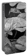 4434- Lily Pads Black And White Portable Battery Charger