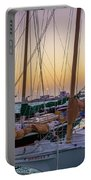 4956- Key West Harbor At Sunset Portable Battery Charger