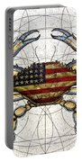 4th Of July Crab Portable Battery Charger by Charles Harden