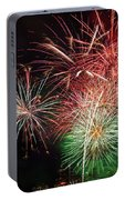 4th Of July Fireworks Display Portland Oregon Portable Battery Charger