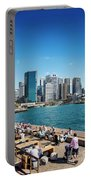 central sydney CBD  area skyline and circular quay in australia Portable Battery Charger