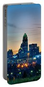 Charlotte North Carolina Early  Morning Sunrise Portable Battery Charger