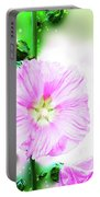 Common Hollyhock  Portable Battery Charger