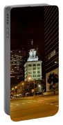 Downtown Tampa Florida Skyline At Night Portable Battery Charger