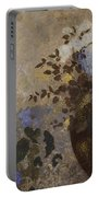 Flowers In A Black Vase Portable Battery Charger