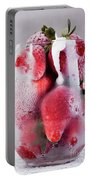 Frozen Strawberry With Sour Cream In Glass Portable Battery Charger