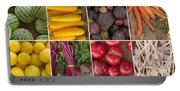 Fruit And Vegetable Collage Portable Battery Charger