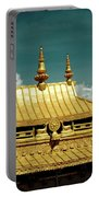 Lhasa Jokhang Temple Fragment Tibet Artmif.lv Portable Battery Charger by Raimond Klavins