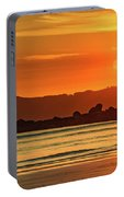 Orange Sunrise Seascape And Silhouettes Portable Battery Charger
