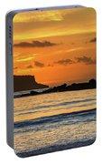 Orange Sunrise Seascape Portable Battery Charger