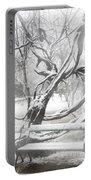 Park During Heavy Snowfall  Portable Battery Charger