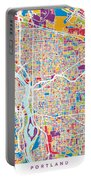 Portland Oregon City Map Portable Battery Charger