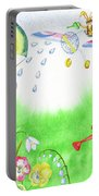 Rabbits And Flowers Portable Battery Charger